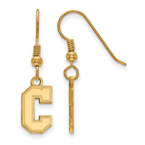 Sterling Silver w/GP LogoArt College of Charleston Small Dangle Earrings
