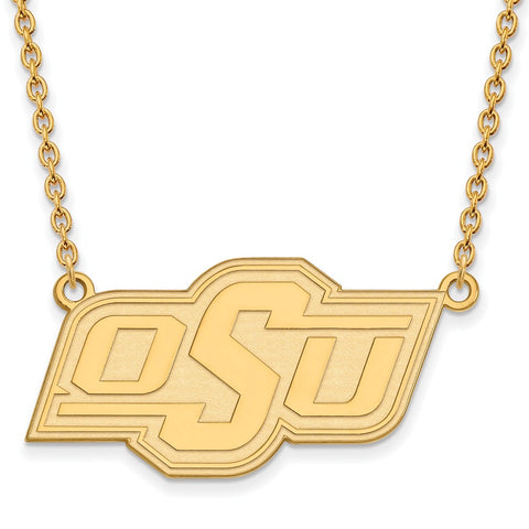 10ky LogoArt Oklahoma State University Large Pendant w/Necklace