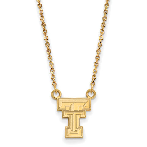 10ky LogoArt Texas Tech University Small Pendant w/Necklace