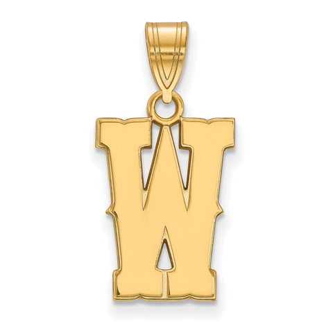 10ky LogoArt The University of Wyoming Medium Pendant