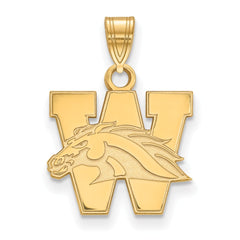 10ky LogoArt Western Michigan University Small Pendant