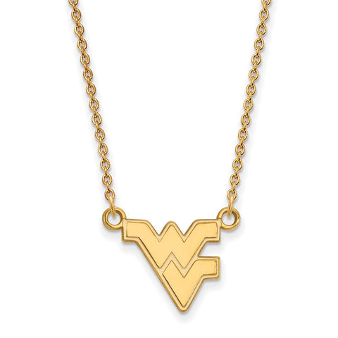 10ky LogoArt West Virginia University Small Pendant w/Necklace