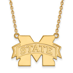 10ky LogoArt Mississippi State University Large Pendant w/Necklace