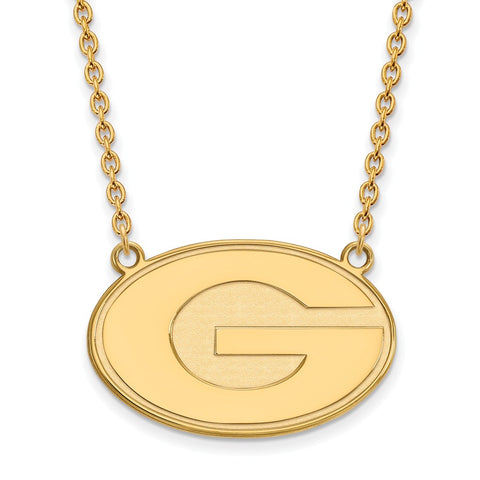 10ky LogoArt University of Georgia Large Pendant w/Necklace