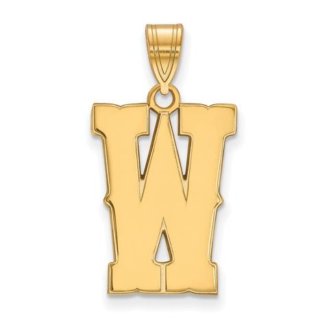 10ky LogoArt The University of Wyoming Large Pendant