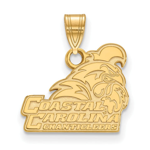 10k Yellow Gold Logoart Coastal Carolina University Chanticleers Small Pendant