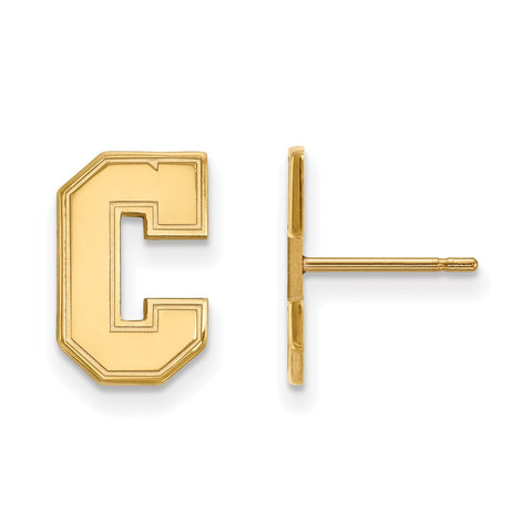 10ky LogoArt College of Charleston Small Post Earrings