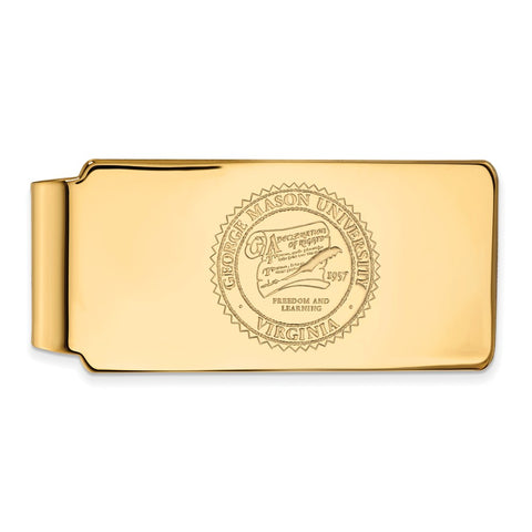 14ky LogoArt George Mason University Money Clip Crest