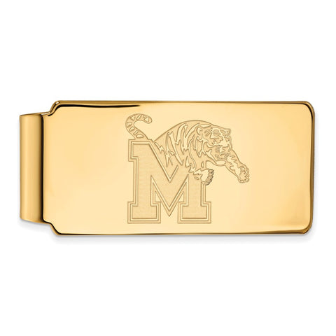 10ky LogoArt University of Memphis Money Clip