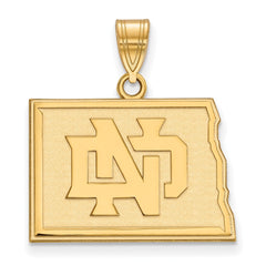 10ky LogoArt University of North Dakota Medium Pendant