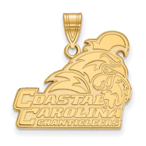 10k Yellow Gold Logoart Coastal Carolina University Chanticleers Large Pendant