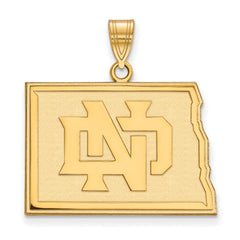 10ky LogoArt University of North Dakota Large Pendant