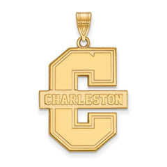 10ky LogoArt College of Charleston XL Pendant