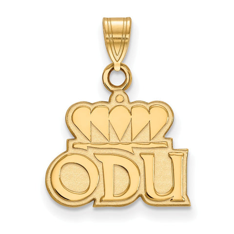 14ky LogoArt Old Dominion University Small Pendant
