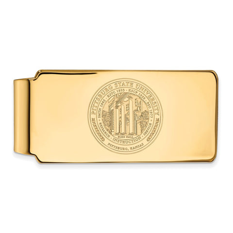 10ky LogoArt Pittsburg State University Money Clip Crest