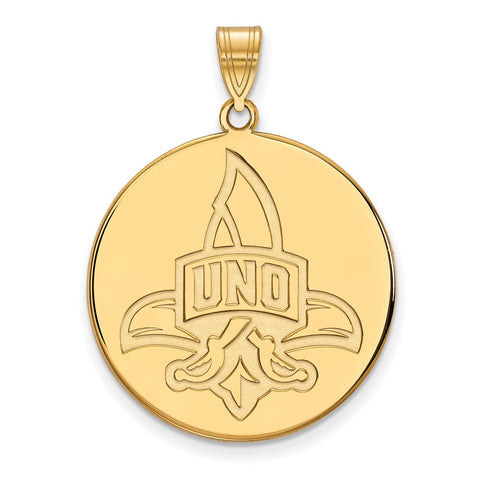 10ky LogoArt University of New Orleans XL Disc Pendant