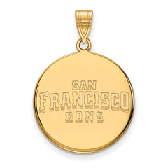 10ky LogoArt University of San Francisco Large Disc Pendant