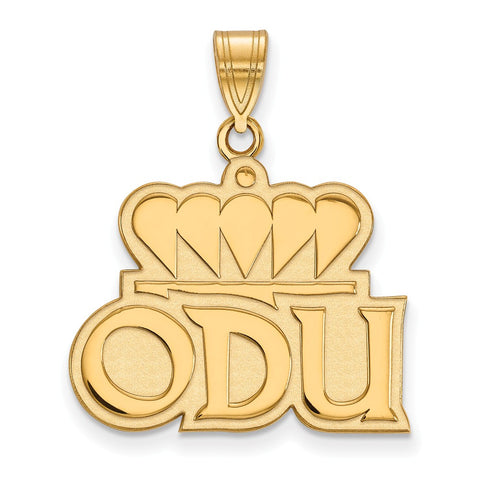 10ky LogoArt Old Dominion University Large Pendant