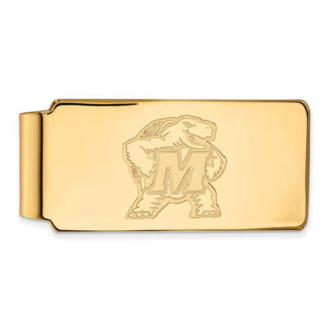 10ky LogoArt University of Maryland Money Clip