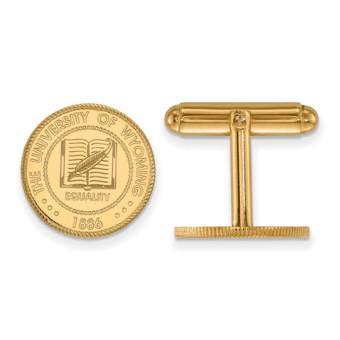 14ky LogoArt The University of Wyoming Crest Cuff Link