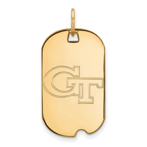 10ky LogoArt Georgia Institute of Technology Small Dog Tag