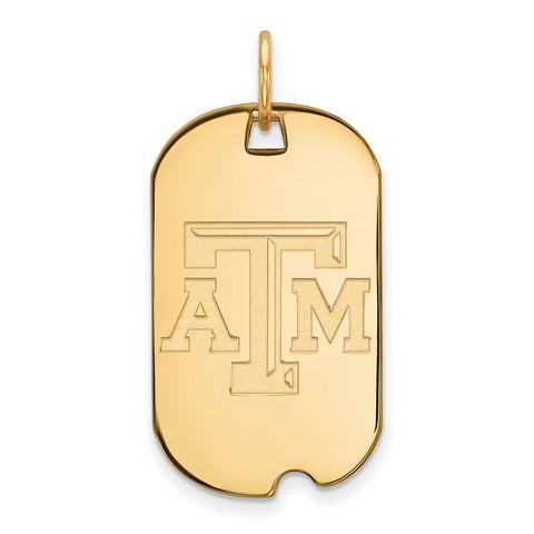 10ky LogoArt Texas A&M University Small Dog Tag