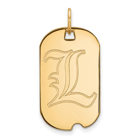 10ky LogoArt University of Louisville Small Dog Tag