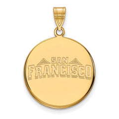 14ky LogoArt University of San Francisco Large Disc Pendant