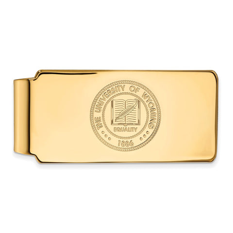 10ky LogoArt The University of Wyoming Money Clip Crest