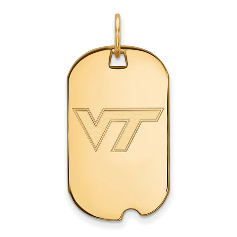 10ky LogoArt Virginia Tech Small Dog Tag