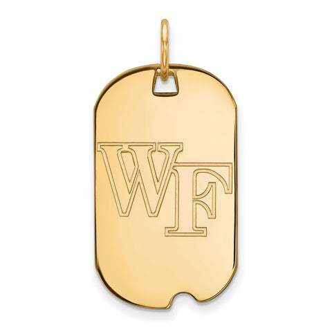 10ky LogoArt Wake Forest University Small Dog Tag