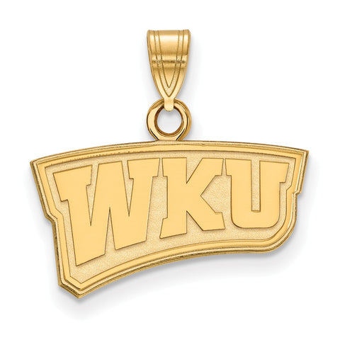 14ky LogoArt Western Kentucky University Small Pendant