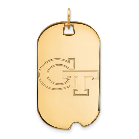 10ky LogoArt Georgia Institute of Technology Large Dog Tag