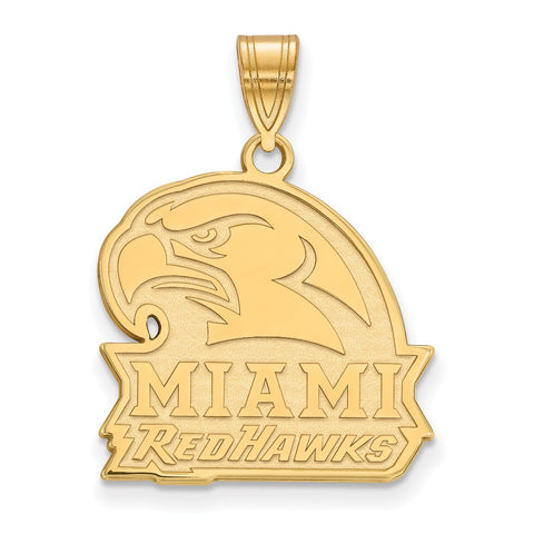 10ky LogoArt Miami University Large Pendant