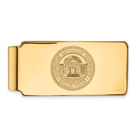 10ky LogoArt Southern Methodist University Money Clip Crest