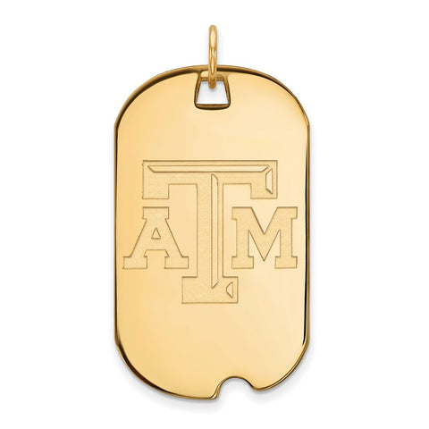 10ky LogoArt Texas A&M University Large Dog Tag