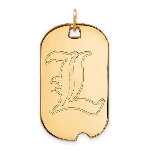 10ky LogoArt University of Louisville Large Dog Tag