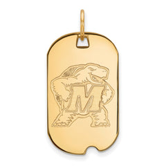 10ky LogoArt University of Maryland Small Dog Tag