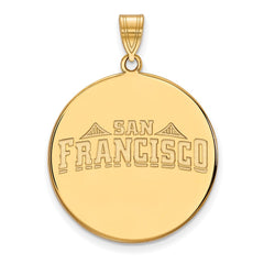 10ky LogoArt University of San Francisco XL Disc Pendant