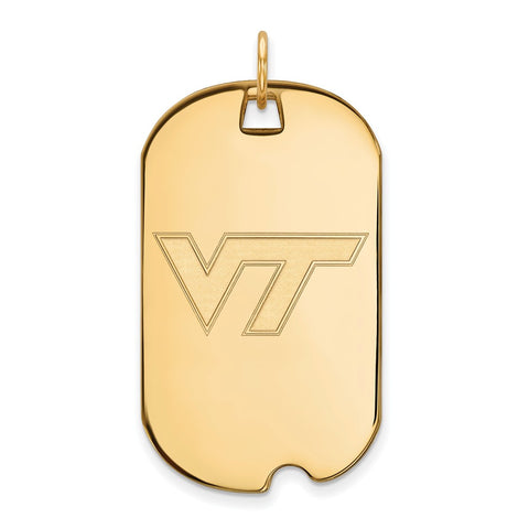 10ky LogoArt Virginia Tech Large Dog Tag