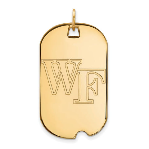 10ky LogoArt Wake Forest University Large Dog Tag
