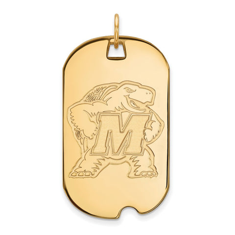 10ky LogoArt University of Maryland Large Dog Tag