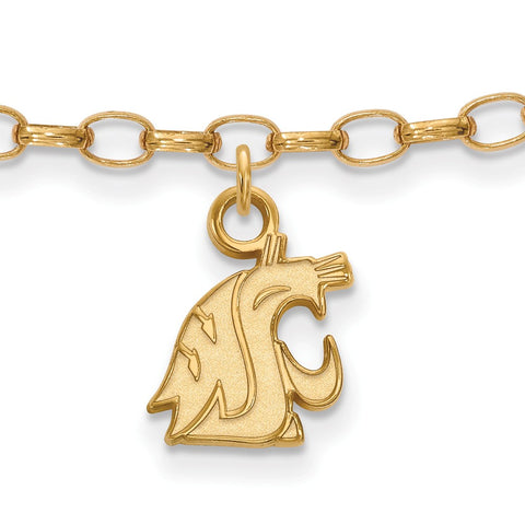 Gold Plated Sterling Silver Logoart Washington State The Evergreen State Anklet
