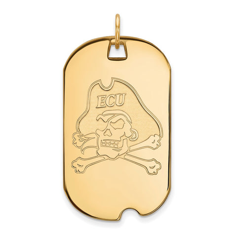 10ky LogoArt East Carolina University Large Dog Tag