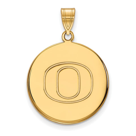 10ky LogoArt University of Oregon Large Disc Pendant