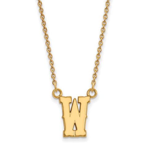 10ky LogoArt The University of Wyoming Small Pendant w/Necklace