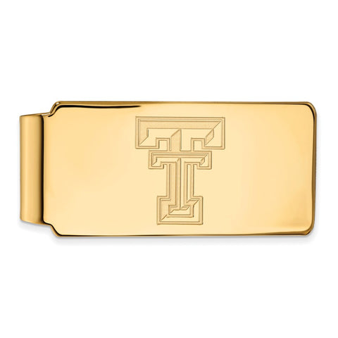 Sterling Silver w/GP LogoArt Texas Tech University Money Clip