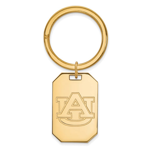 Sterling Silver w/GP LogoArt Auburn University Key Chain