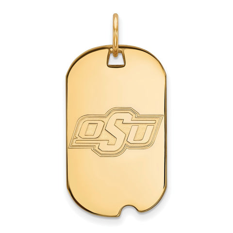 10ky LogoArt Oklahoma State University Small Dog Tag