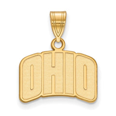 Sterling Silver w/GP LogoArt Ohio University Small Pendant